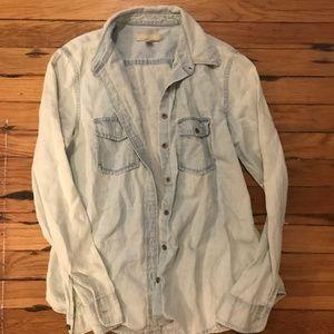 Banana Republic Jean Shirt Distressed Wash